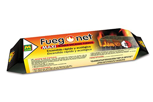 FUEGO NET Fuegonet 231195 Maxi-Bloque Enciende Fuegos, Marrón, 19.5x7.2x4.5999999999999996 cm