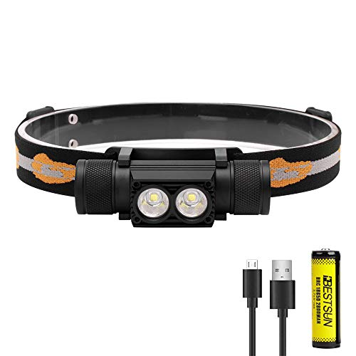 LED Headlamp Rechargeable USB Super Bright Headlamp Flashlight, LUXNOVAQ 1000 Lumen Head Lamp Outdoor Waterproof Head Light with Battery & 6 Modes Best for Adults Camping Hiking Backpacking Work