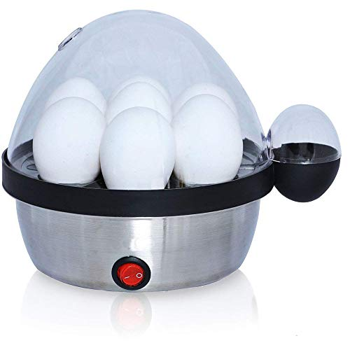 #1 Professional Rapid 7 Egg Cooker (Modern Design) - Chef Quality Eggs: Poached, Deviled, Benedict, Salad & more - Make Soft, Med or Hard Boiled Eggs - BPA Free Removable Tray