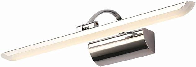 Spiegel Lichten Eenvoudige Moderne Spiegel Voorlicht LED Badkamer Toilet Waterdicht Anti-condens Rvs Spiegel Kast Lamp Voo...