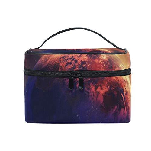 Trousse de maquillage avec fermeture à glissière Cosmetic Bag Clutch Ice Fire Moon couche unique Portable Travel Storage Pouch Sac Square pour les fem