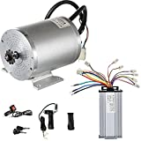 VEVOR Electric Brushless DC Motor,48V 2000W Brushless Electric Motor,4300 RPM High Speed Motor,w/ 34A Controller and Throttle Grip for Go Kart ATV Electric Scooter Motorcycle Mid Drive Motor DIY Part