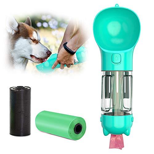 TWBEST Hund Wasserflasche,Tragbare Haustier Wasserflasche Hund Katze Trinkflasche kommt mit Zwei Hundekotaschen,360° auslaufsicher,für Camping,Spaziergang,Wandern,Training,Unterwegs Outdoor