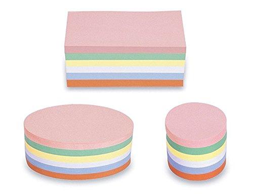 magnetoplan 3 Pack im Set Moderationskarten - Rechteck Oval Rund - 750 Bunte Karten für die Moderation farbig Sortiert, gratis 90 Klebepunkte 19mm