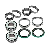 Front Wheel Bearing Race Seal Set Inner Outer Assembly fit for Dodge Ram 2500 Ram 3500 1999 1998 1997 1996 1995 1994 All Engine