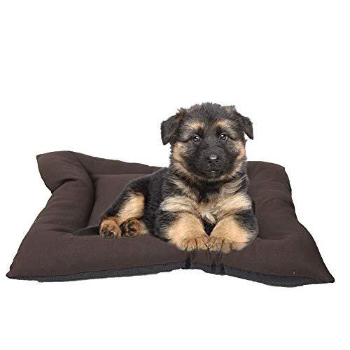 Arcoiris Colchoneta Mascota Cama Perro, Cama de Perros Grandes, Cama para Perros, Cama para Mascotas Desmontable y Extraíble Lavable 70 x 50 x 11CM (M, Marrón)