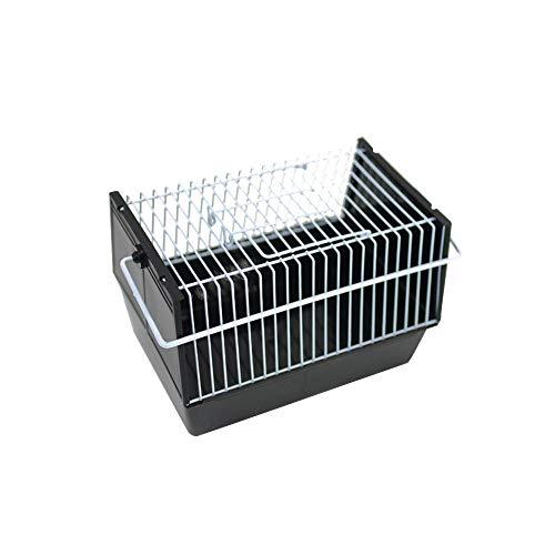 Sobotoo - Jaula portájaros de Metal portátil para pájaros, diseño Cuadrado, Ligera, portavájaros, Jaula de Viaje, Transpirable, para alimentación de pájaros, Jaula de Viaje al Aire Libre