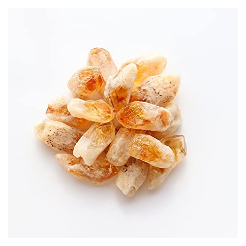 YSJJJBR Piedra Natural 50 g/Bolsa de Cristal Natural Curación de la citrina Muestras de citrina Coleccionables ásperas Piedra de Gemas crudos Decoración de Acuario (Größe : 50g)