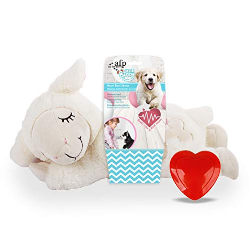 ALL FOR PAWS AFP Little Buddy Heart Beat Sheep Jouet Blanc pour Chien 1 Unité