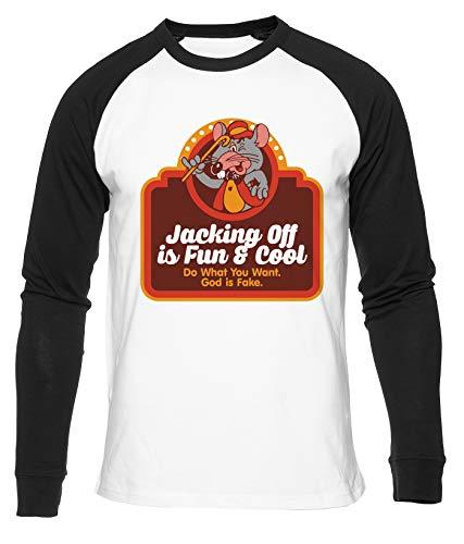 Hopestly Do What You Want God Is Fake Maglietta da Baseball Unisex da Donna Uomo Bianca Girocollo Manica Lunga Cotone Organico Tee T-Shirt Unisex White M