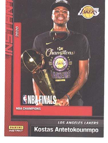 2020-21 Panini Los Angeles Lakers Champions #2 Kostas Antetokounmpo NBA Basketball NM-MT (Panini NBA Finals Instant) (w/Trophy)