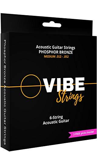 Vibe Acoustic Guitar String Set, Phosphor Bronzer