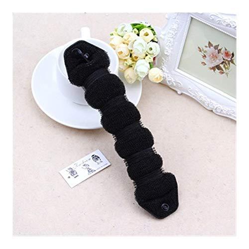 SMXGF Coiffure Magic Tool Rapide des Cheveux Marque Bande de Cheveux Longs Cheveux Mesdames Bricolage Bande Cheveux Fille Cheveux Bande Accessoires Cheveux (Color : The Large Black)