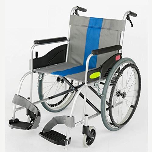 Y-L Gehandicapten Ouderen Lichtgewicht Opvouwbare Handleiding Rolstoel, Ouderen Gehandicapten, Luchtvaart, Aluminium Draagbare Opvouwbare Kinderwagen
