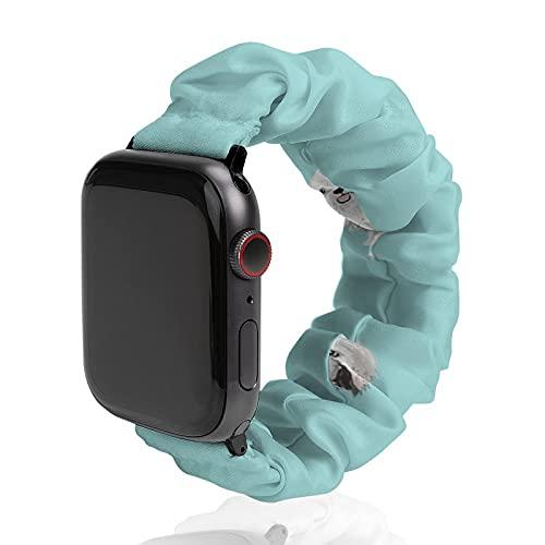 Correa de repuesto para hombre y mujer, compatible con Apple Watch de 42 mm/44 mm, suave y elástica...