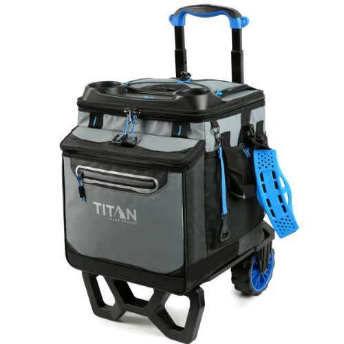 Arctic Zone Titan Deep Freeze - Enfriador con ruedas de alto rendimiento, capacidad para 60 latas, Azul