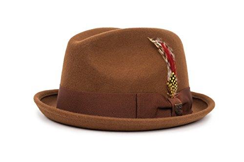 BRIXTON Gain Fedora Headwear, Coffee, XS