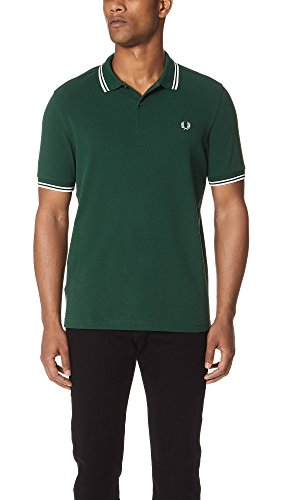 Fred Perry M3600, Polo Para Hombre, Verde (Green), Large