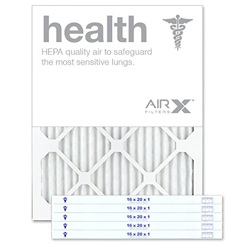 AIRx HEALTH 16x20x1 MERV 13 Pleated Air Filter - Made in the...