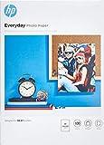 HP Everyday Photo Paper, Q2510A, 100 hojas de papel fotográfico brillante avanzado, compatible con impresoras de inyección de tinta, A4, peso del material de impresión 200 g/m²