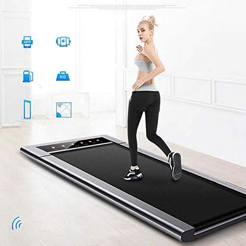 Cinta de correr eléctrica plegable de AZZ, para caminar con cinta de correr, instalación portátil, control por voz por Bluetooth, diseño silencioso, multifunción, para deportes familiares y fitness