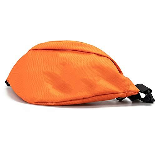 Sacs de Sport Tide Marque Personnalité Poitrine Sac Hommes et Femmes Sports en Plein Air Fonction Sac Street Tide Petit Sac Poches Multifonction (Color : Orange)