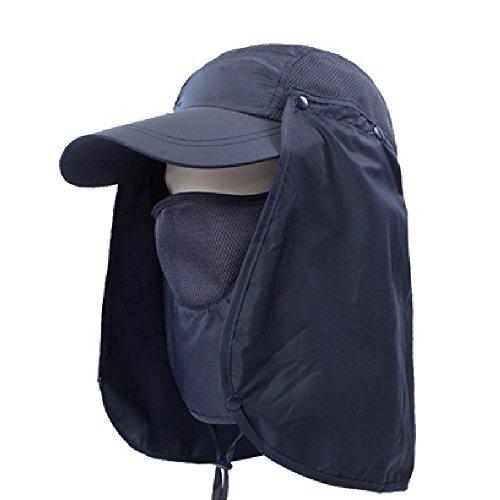 【simPLEISURE(シンプレジャー)】 全13色 UVカット帽子 首まですべてをガード 炎天下での紫外線・熱中症対策に 着こなし4パターン セパレート式 ネイビーブラック qa100200a02b