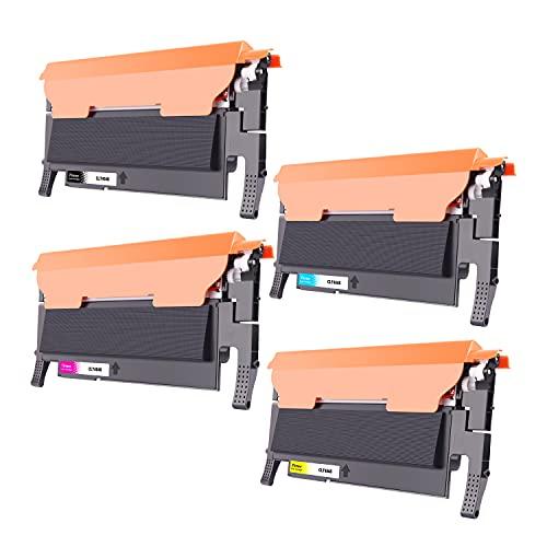 Tinnee 4 tóneres CLT-404S para Samsung CLT-P404C CLT-K404S CLT-C404S CLT-Y404S CLT-M404S compatible con Samsung Xpress SL C480W C480FW C430W C430 C430 C480 C480FN C483W
