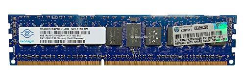Nanya Arbeitsspeicher ECC Registered DDR3 4GB 2Rx4 1333MHz PC3-10600 RDIMM NT4GC72B4PB0NL-CG