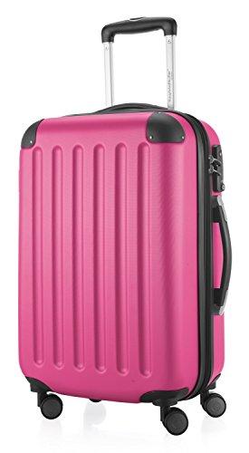 Hauptstadtkoffer - Spree - Handgepäck Hartschalen-Koffer Trolley Rollkoffer Reisekoffer Erweiterbar, TSA, 4 Rollen, 55 cm, 42 Liter, Magenta