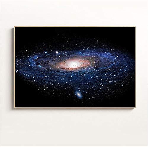 mmzki Decoración para el Dormitorio Nebula Universe Clouds Galaxy Poster Starry Sky Star Wall Pictures para la Sala de Estar Decoración Canvas Canvas Cuadros-40x60_CM_UNframed_Purple