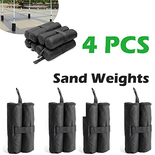 AutoBaBa Gazebo Sandbag Weights Canopy Tent Feet Leg weight Sand Bags, Waterfroof, Set of 4
