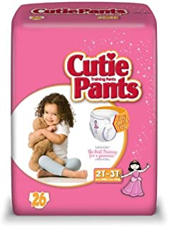 Cuties Toddler Training Pants for Girls Size 2T-3T, 26 Count (Pack of 4)