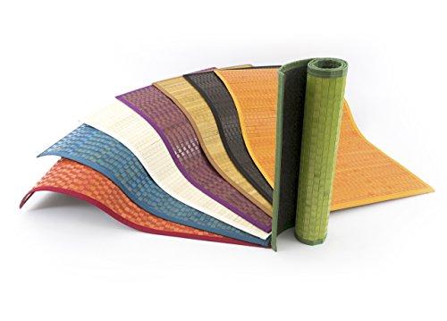 SOFFICIOSO Tappeto Bamboo in Tinta Unita Passatoia da Cucina Antiscivolo 50x200 Verde