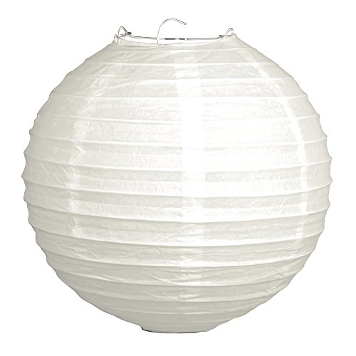 Rayher 87484102Linterna China con Pantalla de Papel (Color Blanco, 30cm de diámetro con Estructura de Metal bolsita 1Pieza