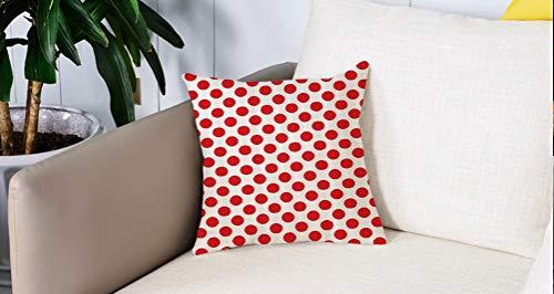 Cuscino salotto in cotone shabby Rosso con cuori 40x40 arredo arredamento casa divano letto Euronovit/à Srl MADE IN ITALY