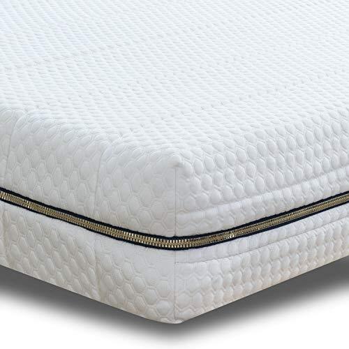 BedStory Colchón de espuma fría de gel con 7 zonas, 140 x 200 cm, ortopédico, dureza H3 (fijo, hasta 120 kg), altura 16 cm, colchón con gel, colchón ergonómico, funda lavable y apta para alérgicos