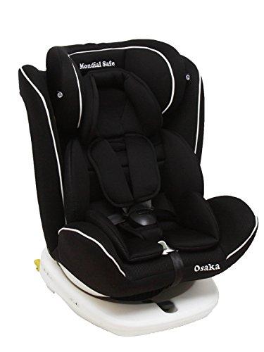 Mondial Safe Osaka 2 916 - Silla de bebé para automóvil, color negro con ribete blanco