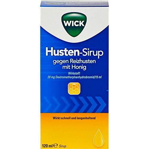WICK Husten-Sirup gegen Reizhusten mit Honig, 120 ml Lösung