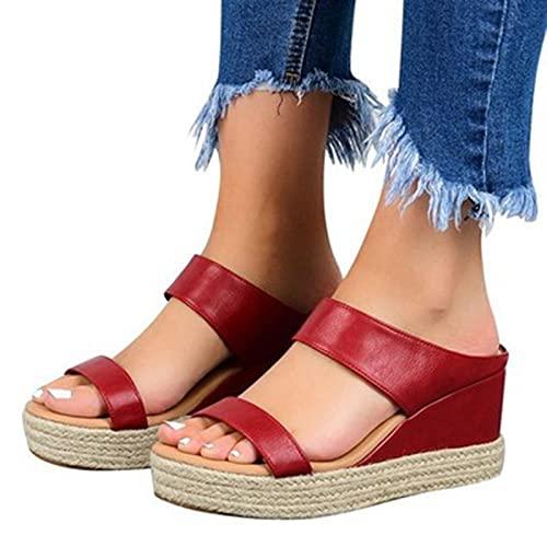 LGXXYF Sandalias de Flip Flop de Wedge para Mujer resbalones en Sandalias de Verano Zapatos Clip Toe Toe Post Flip Flops Plataformas Zapatos Zapatillas (Color : #1, Size : 37)