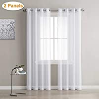 cortinas habitacion blancas largas