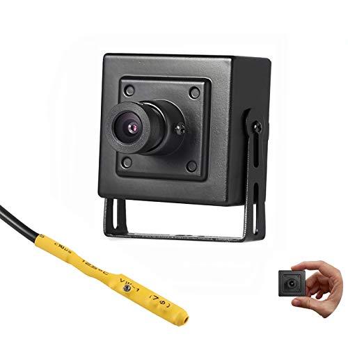 Revotech Mini Telecamera IP POE con Audio, Interni Telecamera di Sicurezza ONVIF P2P Visualizzazione Remota 3MP HD Videosorveglianza CCTV H.265 H.264 (I706-P-Audio Black)