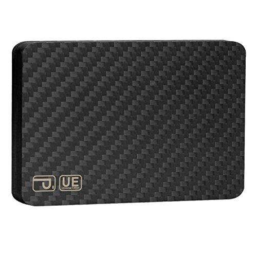 pitaka Geldbörse für Karten, [MagWallet UE] Extra Dünne Magnetische Carbon Fiber/Kohlefaser Brieftasche Hochwertiges Module Portemonnaie Kreditkarten Etui mit RFID-Schutz