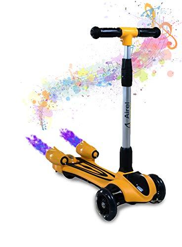 AIREL Kinderstep 3 wiel | Step met stoom | Kinderstep met LED verlichting | Opvouwbare scooter voor kinderen | Kinderstep met muziek | Step voor kinderen van 3-10 jaar