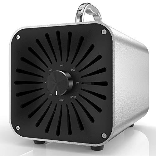 HERAVAC OG-50 Ozone Generator - 5000mg/h Aluminum Alloy Ionizer Air Purifier Deodorizer Machine, Odor Eliminator and Sanitizer (5ft/1.5m Cord)