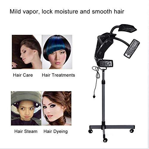 LAW Professionnel sur Pied Type Sèche Cheveux Assiette Chauffe-Eau Salon Coiffeur Ajustable Capuche avec Minuterie pour Salon de Coiffure
