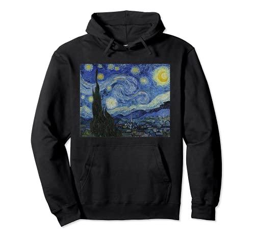 Notte stellata di Vincent van Gogh   Famoso dipinto Felpa con Cappuccio