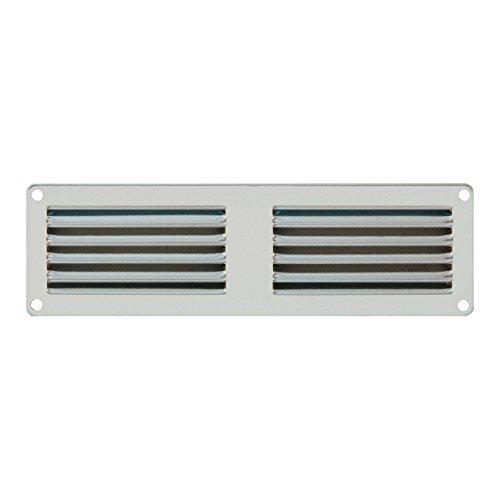 - Grille de ventilation métallique - Grille ventilation métal 200x60mm - Couleur inox