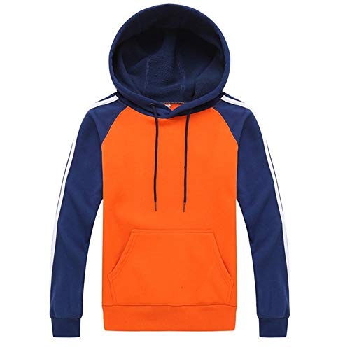 Chunmei Herren Langarm Hoodie Mit Kapuze Tops Jacke Outwear Patchwork Sweatshirt Herbst Winter Männer Kordelzug...