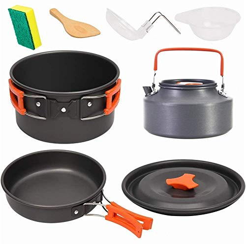 CPH20 Camping Cookware Set Portable Kettle Combination Tableware Outdoor Camping Cookware